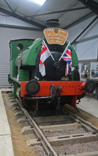Rocks by Rail - engine in new exhibition hall