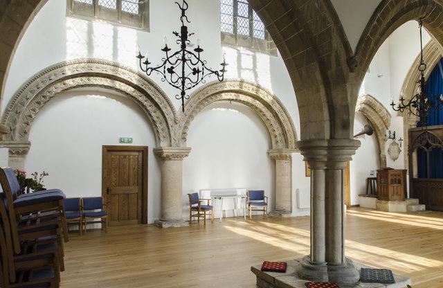 Interior, St Helena's church, South Scarle