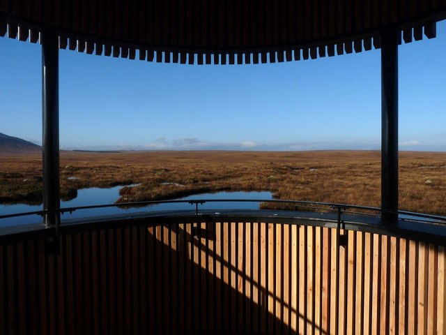View from the Flows Lookout Tower, RSPB Forsinard, Sutherland
