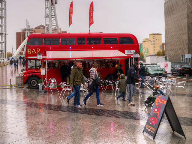 Big Red Bus Bar on Lowry Plaza