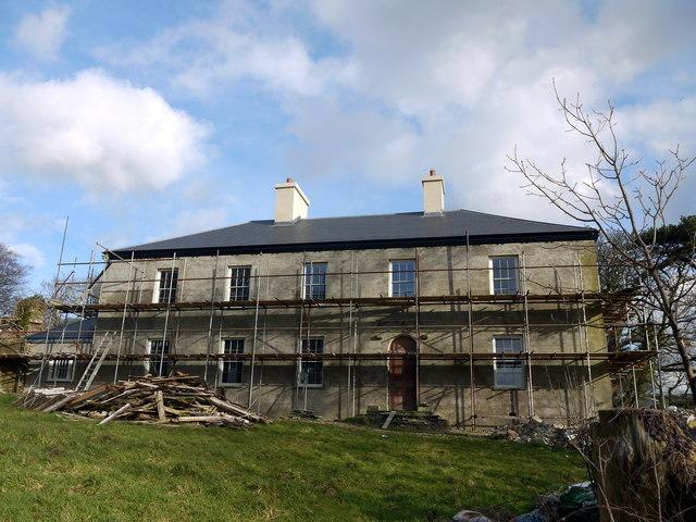 Cwrt mansion under restoration 2014