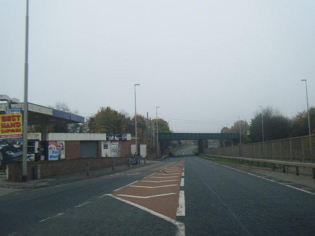 A194 Leam Lane at Primrose railway bridge