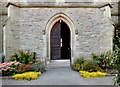 SJ9495 : Entrance to Flowery Field Church by Gerald England