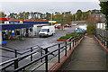 SU9657 : Walkway to the Brookwood Sainsbury store by Alan Hunt