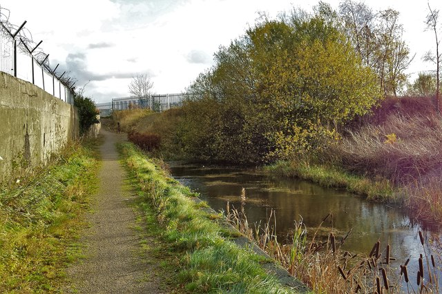 End of the Manchester Bolton & Bury Canal Salford arm