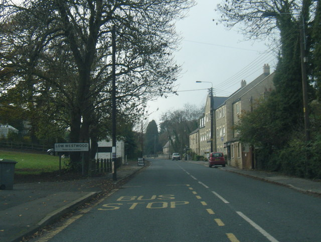 A694 at Low Westwood village boundary