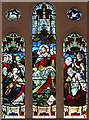 TQ2693 : St John the Apostle, Whetstone - Stained glass window by John Salmon