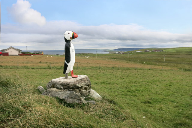 Model Puffin at Muness Castle