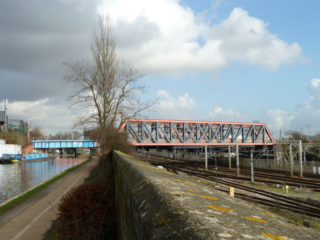 Railway over canal and railway