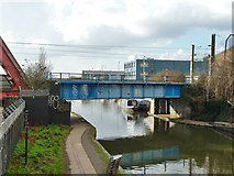 TQ2282 : Railway over canal by Robin Webster
