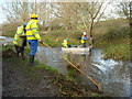 SU0881 : Weed cutting on the Wilts & Berks Canal by Vieve Forward