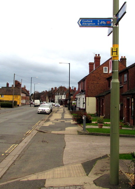 Cycle route 81 distances from High Street, Shifnal