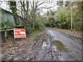 SU1610 : South Gorley, warning sign by Mike Faherty
