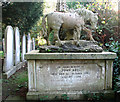 TG2108 : Monument in Earlham cemetery by Evelyn Simak