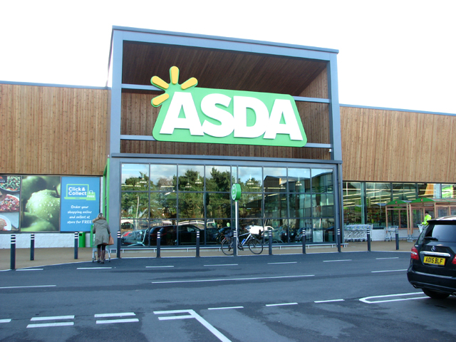 Entrance into the new Asda store in Hall Road