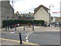 SN5881 : Corner space and street furniture, Pier Street/Great Darkgate Street, Aberystwyth by Robin Stott