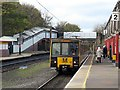 NZ3472 : Train at Monkseaton Metro Station by Andrew Curtis