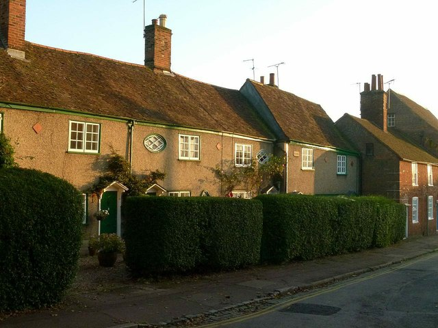 Cottages on Church Green, St Peter's Street
