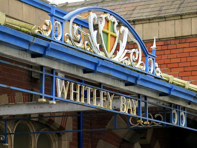 Entrance to Whitley Bay Metro Station (detail)