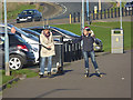 NZ5131 : Online skaters on Seaton Esplanade by Oliver Dixon