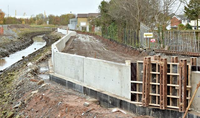Connswater path works, Belfast - November 2015(8)