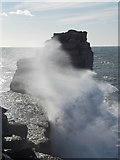SY6768 : Bill of Portland: sea spray at Pulpit Rock by Chris Downer