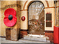 SJ8498 : Manchester Victoria Station, The Soldiers' Gate by David Dixon