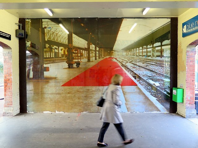 Trompe-l'œil, Cullercoats Metro Station