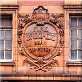 SJ8497 : Fire Brigade Emblem, London Road Fire Station by David Dixon