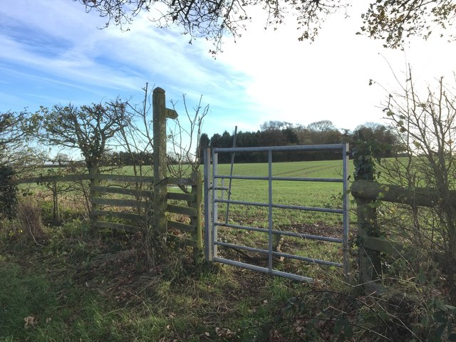 Bridleway to Kiddemore Green Road