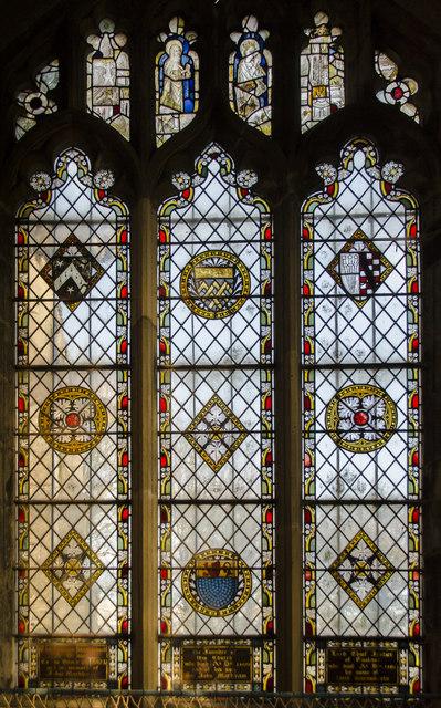 Stained glass window, St John the Baptist church, East Markham