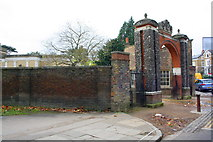 TQ1780 : Entrance to Pitzhanger Manor House from Mattock Lane by Roger Templeman