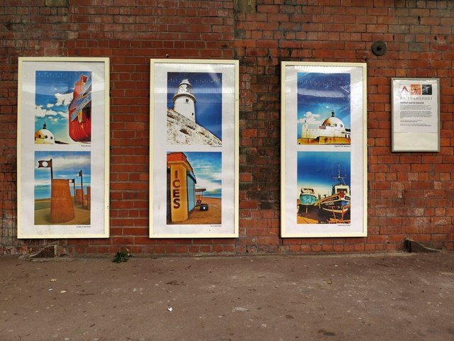 'Whitley Bay in Colour', Cullercoats Metro Station