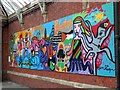NZ3669 : 'Shatila Art', Tynemouth Metro Station by Andrew Curtis