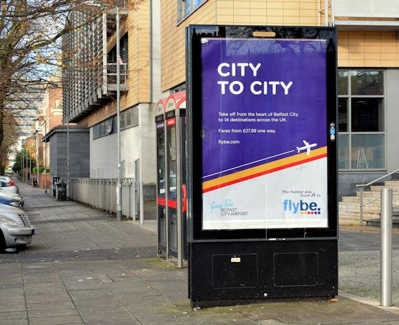 flybe advertisement, Belfast (November 2015)