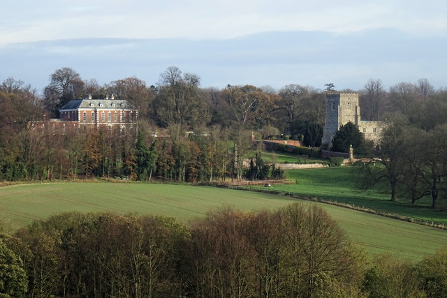 Dalham Hall and Church
