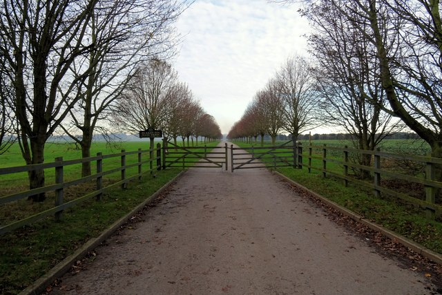 Drive and gateway to Brakey Pin Hall Farm