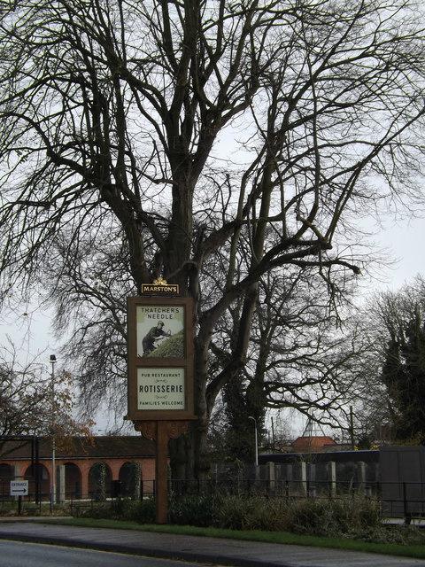 The Thatchers Needle Public House sign
