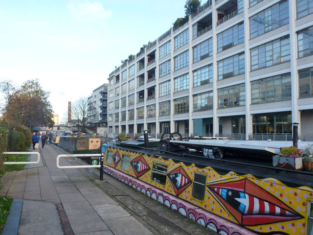 Moored boats and Canal Building, Regent's Canal