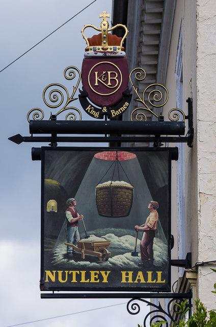Nutley Hall pub sign