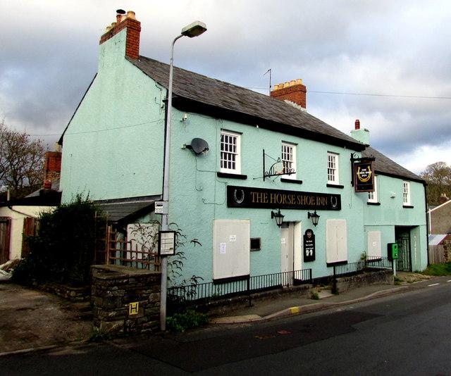 Derelict former Horse Shoe Inn, Llangattock