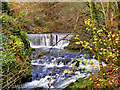 NY3804 : Weir on Stock Ghyll, Above Ambleside by David Dixon