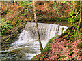 NY3804 : Stock Ghyll Weir at Ambleside by David Dixon