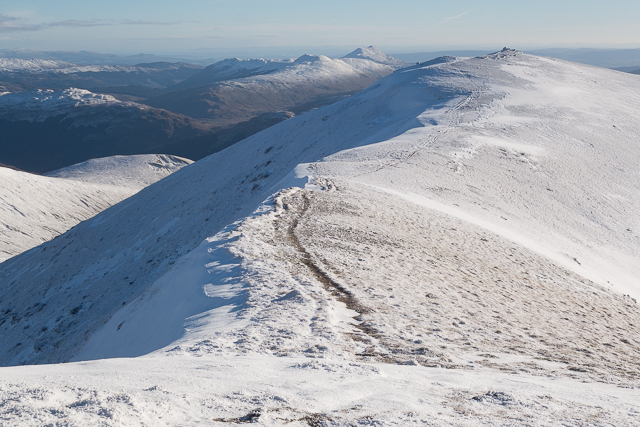 On the southern ridge of Stob Binnein looking towards Stob Coire an Lochan