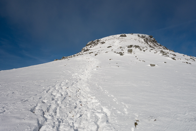 False summit on the southern ridge of Ben More