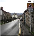 SO2117 : Warning sign - no footway for 250 yards, Hillside Road, Llangattock by Jaggery
