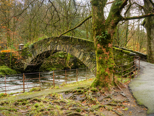 Miller Bridge over the River Rothay at Ambleside