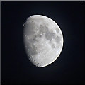 NT6334 : A waxing gibbous moon viewed from Sandyknowe Craigs by Walter Baxter