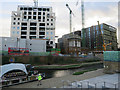 TQ3083 : Construction by Regents Canal by Hugh Venables