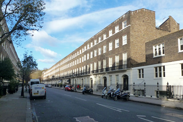 Bedford Place, WC1, east side